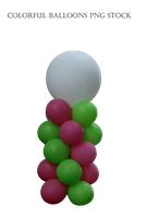 Colorful Balloons PNG STOCK by KarahRobinson-Art