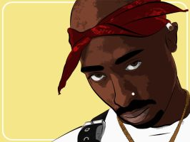 Tupac Pop Art by LiquidSoulDesign