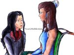 Korra And Asami by YourLittleMonkey
