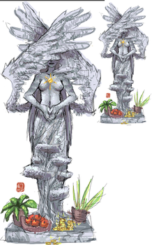 goddess statue by emlan