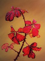 Autumnal Briar Leaves 9 by eastcorkpainter