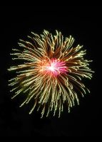 Pink+Orange Fireworks by AcceptedOutcast