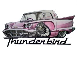 Ford Thunderbird by SIMPSONARTISTRY