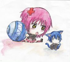Ikuto and Amu Chibi by Metal-Jam