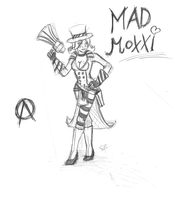Mad Moxxi first sketch by SophiaDragonMaster