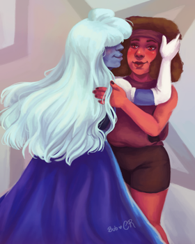 Ruby and Sapphire by Buubblees