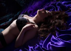 Purple boudoir by AngiWallace