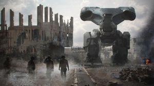 Mech In the Road by steve-burg