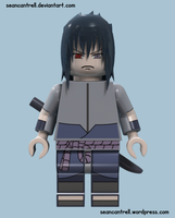 Lego Sasuke - Rinnegan (Purple) by seancantrell