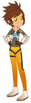 Commission - Equestriawatch [Tracer] (1/6) by SketchMCreations