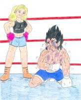 Boxing Android vs Saiyin by Jose-Ramiro