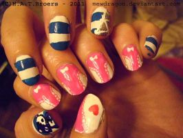 Panty and Stocking Angel Nails by Kythana