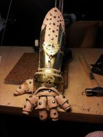 Steampunk Gauntlet WIP by deadlanceSteamworks