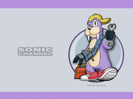 Sonic Channel Rotor Wallpaper by E-122-Psi