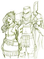 Rogue and Knight by EmperorAtma