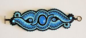 Bead embroidery bracelet 2 by Priscillascreations