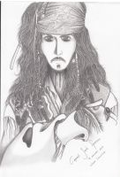 Capt. Jack Sparrow by clairelawliet