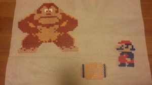 Classic Donkey Kong bead sprite by montoyaa520