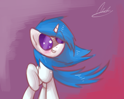 Vinyl Cutie (300 watcher special speed art) by StrangeMoose
