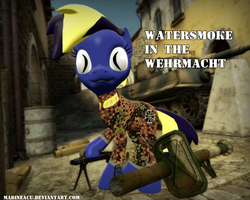 MLP OC: Watersmoke in Wehrmacht appearance by MarineACU