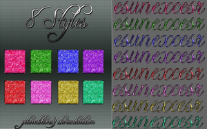 8 Styles con Glitter by PilarEditions9