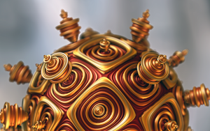 Gold ball 2 by Theli-at