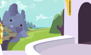 Background: Canterlot Castle Balcony by 90Sigma