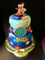 Phineas and Ferb Beach Cake by Spudnuts