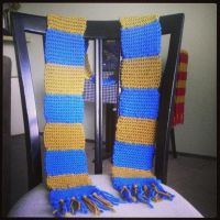 Ravenclaw House Scarf - Knitted by Chudames