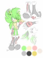 _New Re-Desing_SinnyBoy_Refrence Sheet_ by ElectricLoba