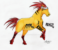 Renji horsefied by xMashykax