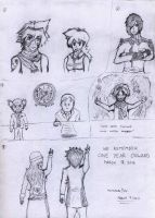 Random Sketches- Fairy Tail Edition 2 by VoltsPower2K