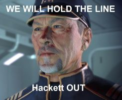 Hackett HOLD THE LINE by fireofargentis