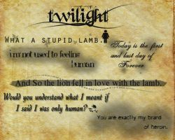 Twilight Quotes Brushes by JesAlex27