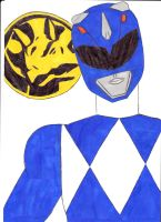 Mighty Morphin' Power Rangers 02 Blue Ver. 1 by SeptimusParker