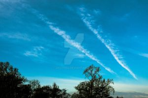 Project 365 - 107 - The Sky Burnout by jguy1964