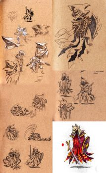 Some game enemy concept sketches. by mishinsilo