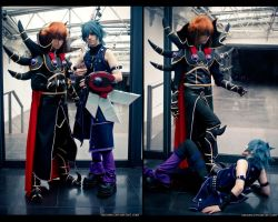 YuGiOh GX - Haou Judai and Hell Johan by ShamanRenji