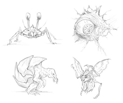 METROID enemies... by rob-powell