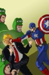 Captain America Punching Trump in the Face by Spearhafoc