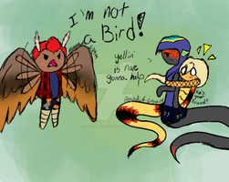 I'm not a bird! by AlexusArt-is-back
