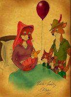 Disney's Robin Hood Family by ChloeMonster