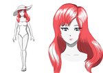Design of a red hair girl by Nomena-ALRINA