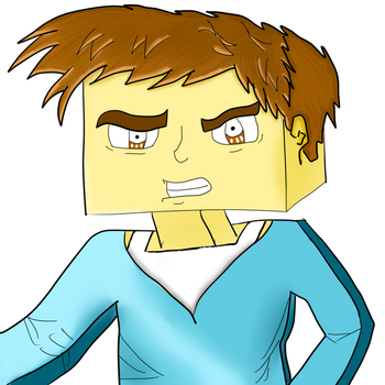 Minecraft Drawing Steve by Astinax98