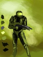 Master Chief WIP by ReclaimedLight