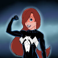 Symbiote Ariel Ultimate Strength by DeathStrokeAC