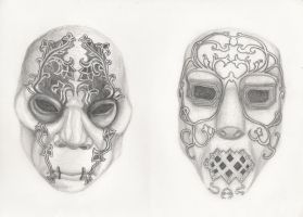 dobble Death Eater maskes 2 by moptop4000