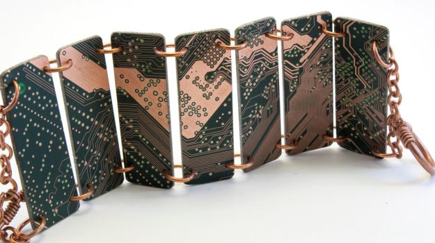 Circuit Board Bracelet - 19 by jupiter-storm