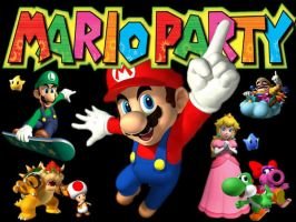 Mario Party Wallpaper by CoyoteCreations