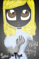 The World is Grey: book cover by PeculiarChemicalista